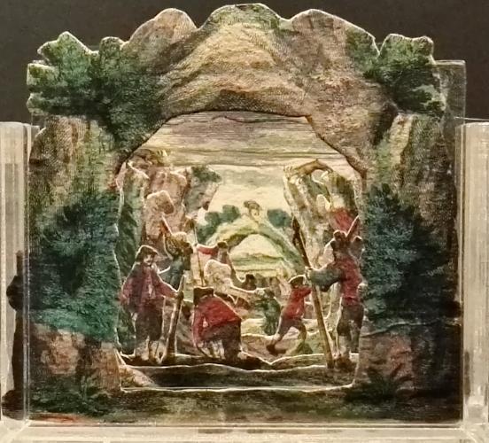 Gemsen Jagd - Caccia ai camosci. Diorama teatrale