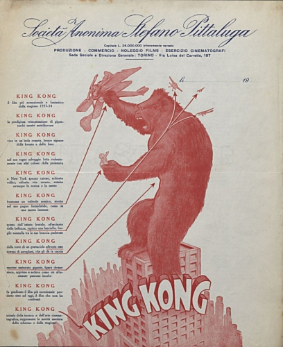 KING KONG (Merian C. Cooper ed Ernest B. Schoedsack, 1933)